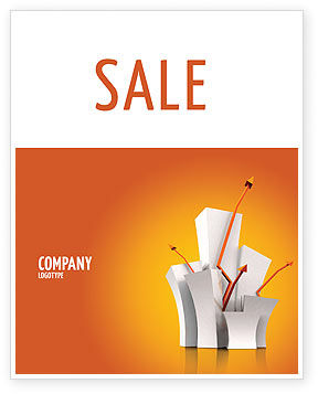 Consulting: Rising Rates Sale Poster Template #03248