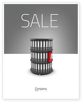 Business Concepts: Paper Case Shelf Sale Poster Template #03253
