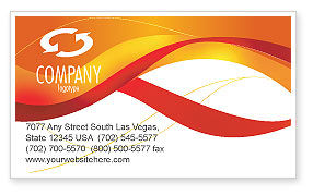Abstract/Textures: Orange Wave Surface Business Card Template #03258