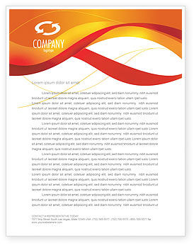 Abstract/Textures: Orange Wave Surface Letterhead Template #03258
