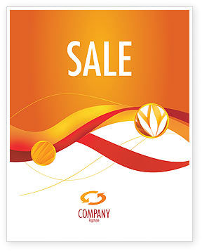 Orange Wave Surface Sale Poster Template, 03258, Abstract/Textures — PoweredTemplate.com