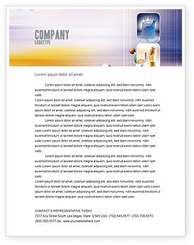 Technology, Science & Computers: Chemical Laboratory Letterhead Template #03259