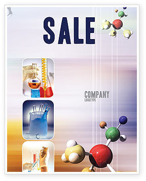 Technology, Science & Computers: Chemical Laboratory Sale Poster Template #03259
