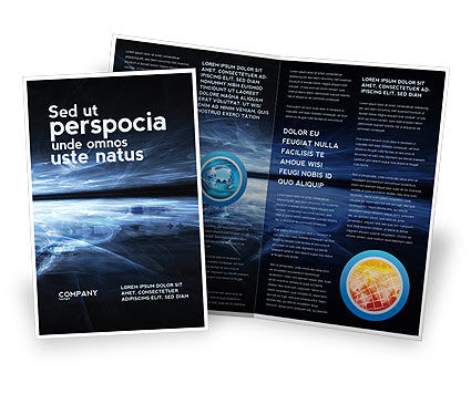 Abstract/Textures: Cyberspace Brochure Template #03260