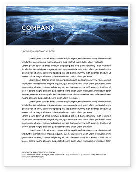 Abstract/Textures: Cyberspace Letterhead Template #03260
