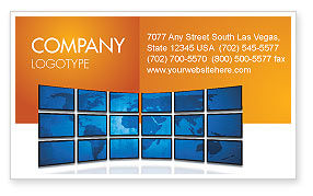 Global: World News Business Card Template #03262