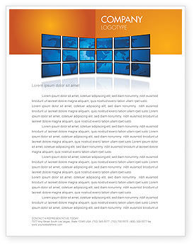 Global: World News Letterhead Template #03262