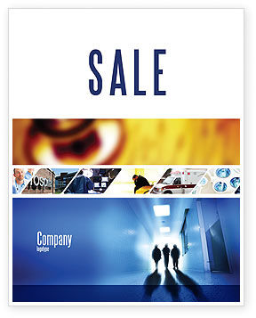 Hospital Sale Poster Template