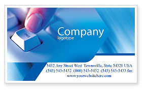 Escape Key Business Card Template, 03269, Technology, Science & Computers — PoweredTemplate.com