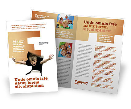 Children's Surprise Brochure Template, 03270, Business Concepts — PoweredTemplate.com