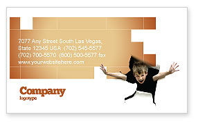 Business Concepts: Children's Surprise Business Card Template #03270