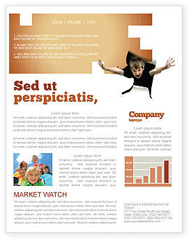 Children's Surprise Newsletter Template