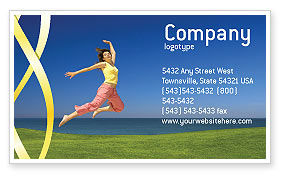 Happiness Business Card Template, 03273, Consulting — PoweredTemplate.com