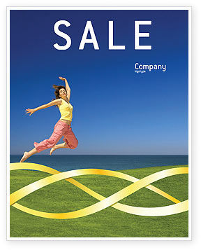 Happiness Sale Poster Template, 03273, Consulting — PoweredTemplate.com