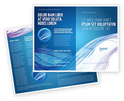 Blue Veil Brochure Template