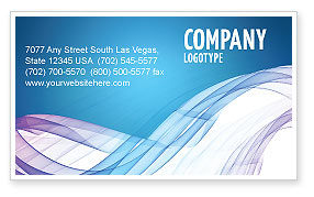 Abstract/Textures: Blue Veil Business Card Template #03276
