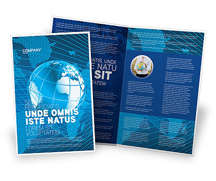 Worldwide Brochure Template, 03279, Global — PoweredTemplate.com