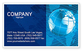 Worldwide Business Card Template, 03279, Global — PoweredTemplate.com