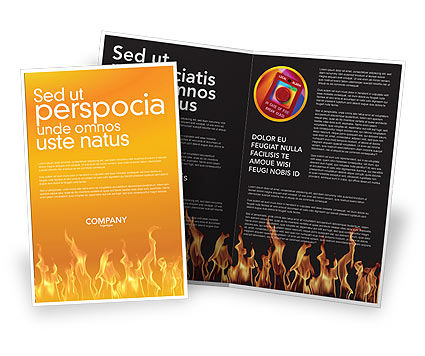 Fire Brochure Template, 03282, Abstract/Textures — PoweredTemplate.com