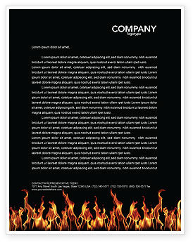 Abstract/Textures: Fire Letterhead Template #03282