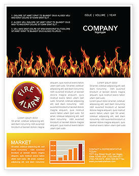 Abstract/Textures: Fire Newsletter Template #03282