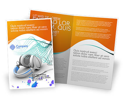 Technology, Science & Computers: Earphones Brochure Template #03283