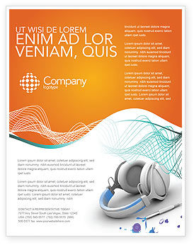 Technology, Science & Computers: Earphones Flyer Template #03283