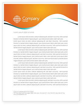 Technology, Science & Computers: Earphones Letterhead Template #03283