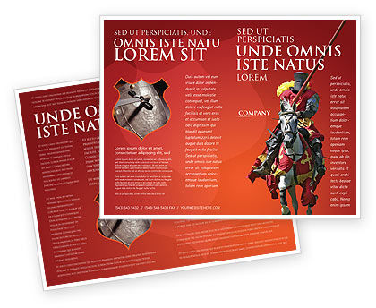 Knight Brochure Template, 03285, Education & Training — PoweredTemplate.com