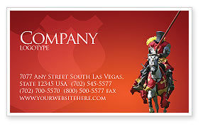 Knight Business Card Template, 03285, Education & Training — PoweredTemplate.com