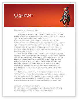Knight Letterhead Template, 03285, Education & Training — PoweredTemplate.com