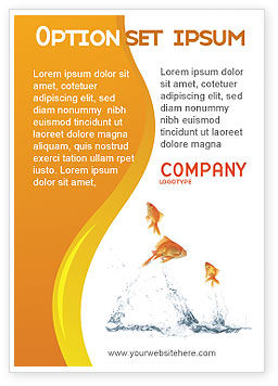 Jumping Goldfish Ad Template, 03286, Agriculture and Animals — PoweredTemplate.com
