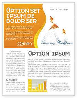 Agriculture and Animals: Jumping Goldfish Newsletter Template #03286