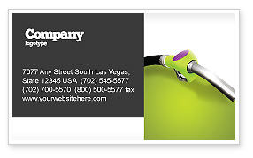 Nature & Environment: Biofuel Business Card Template #03288