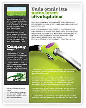 Biofuel Flyer Template, 03288, Nature & Environment — PoweredTemplate.com