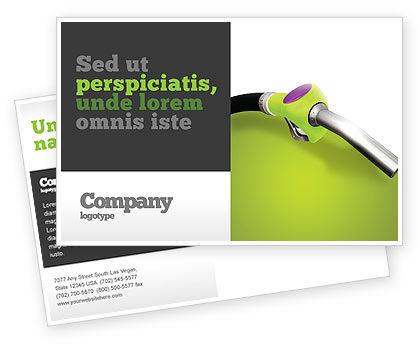 Biofuel Postcard Template, 03288, Nature & Environment — PoweredTemplate.com