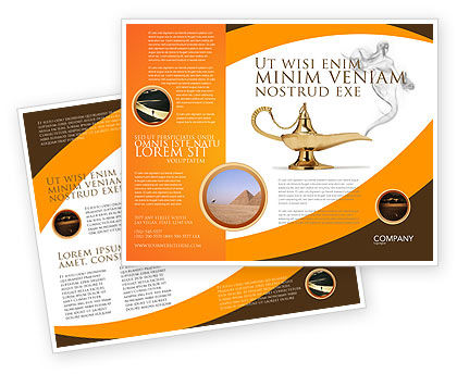 Art & Entertainment: Genie Lamp Brochure Template #03289