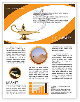 Genie Lamp Newsletter Template, 03289, Art & Entertainment — PoweredTemplate.com