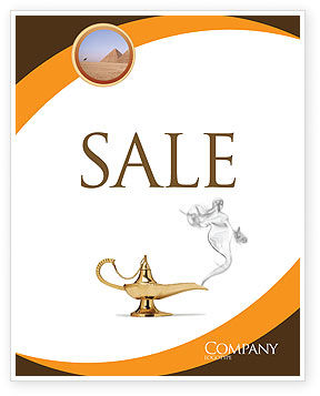 Genie Lamp Sale Poster Template, 03289, Art & Entertainment — PoweredTemplate.com