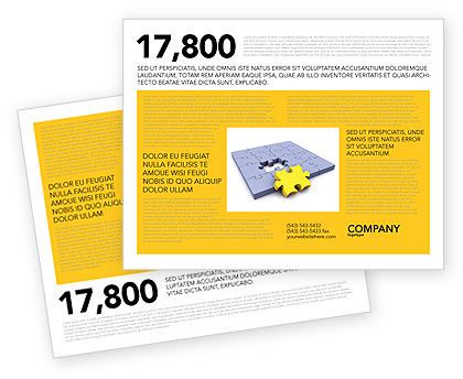 Rede Brochure Template, 03290, Business Concepts — PoweredTemplate.com