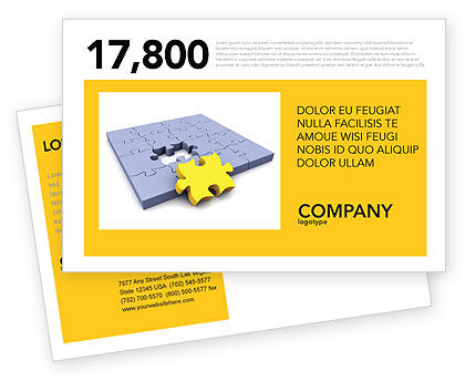 Business Concepts: Rede Postcard Template #03290
