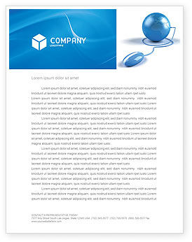 Computerized World Letterhead Template, 03291, Global — PoweredTemplate.com