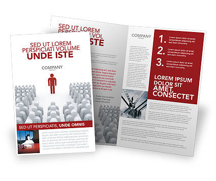 Majority Leader Brochure Template, 03293, 3D — PoweredTemplate.com