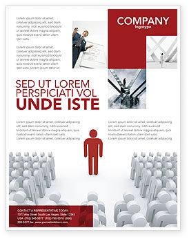 Majority Leader Flyer Template, 03293, 3D — PoweredTemplate.com