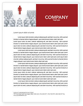 Majority Leader Letterhead Template, 03293, 3D — PoweredTemplate.com
