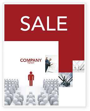 3D: Majority Leader Sale Poster Template #03293