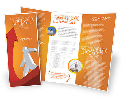Career Jump Brochure Template, 03296, Careers/Industry — PoweredTemplate.com