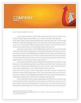 Career Jump Letterhead Template, 03296, Careers/Industry — PoweredTemplate.com