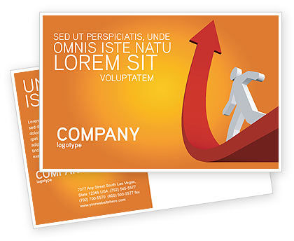 Careers/Industry: Career Jump Postcard Template #03296