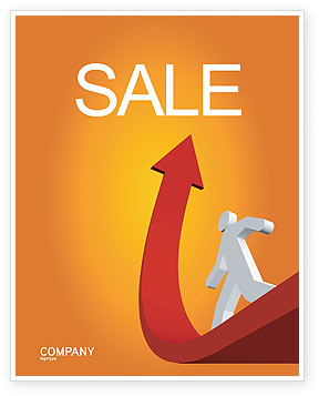 Careers/Industry: Career Jump Sale Poster Template #03296